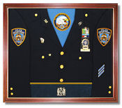 Or we can design a Custom Uniform Display Case for you or for your entire Unit!