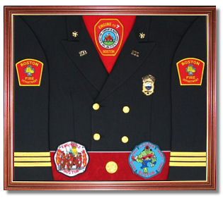 Fire Department Awards Display Case Shadow Box