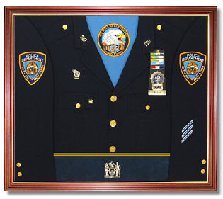 Police Awards Display Case Shadow Box