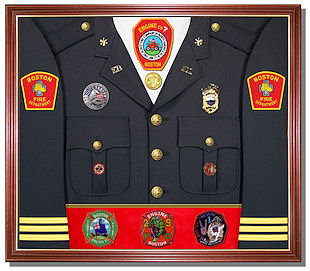 Firefighers Display Cases