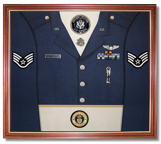 Air Force Awards Display Case Shadow Box