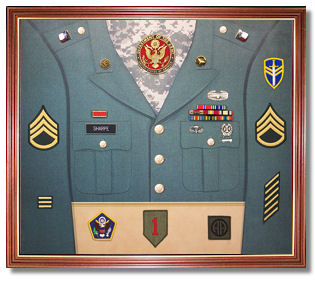Army Awards Display Case Shadow Box