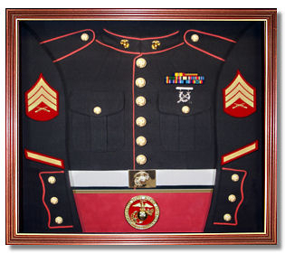 U.S.M.C. Marines Awards Display Case Shadow Box