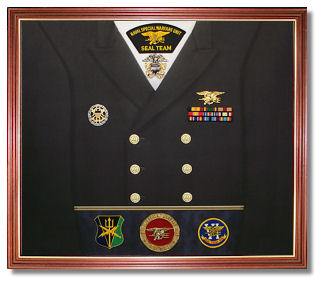 Navy Awards Display Case Shadow Box