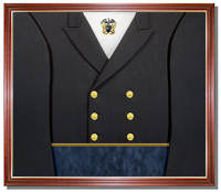 Navy Uniform Display Case with Cap Device