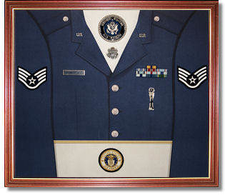 The uniform display case for Air force decoration examples