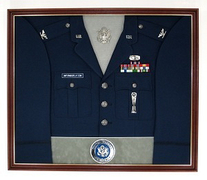 Air Force Officer Display Case Shadow Box