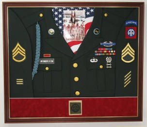 Army Airborne Display Case Shadow Box