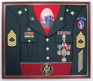 Army Band Display Case Shadow Box Uniform