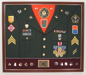 Army Signal Corps Display Case Shadow Box Uniform