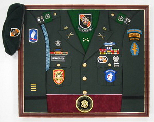 Army Special Forces Display Case Shadow Box