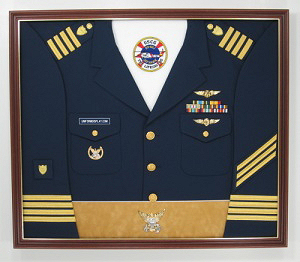 Coast Guard Display Case Shadow Box Uniform
