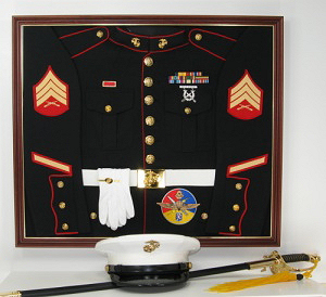 Marines Display Case Shadow Box