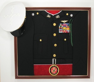 Marines Officer Display Case Shadow Box