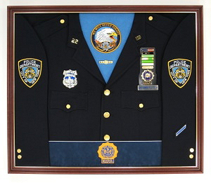New York Police Department N.Y.P.D. Display Case Shadow Box Uniform