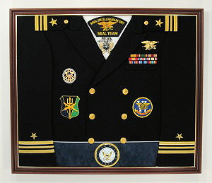 Navy Officer Display Case Shadow Box