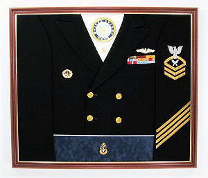 Navy Enlisted Display Case Shadow Box