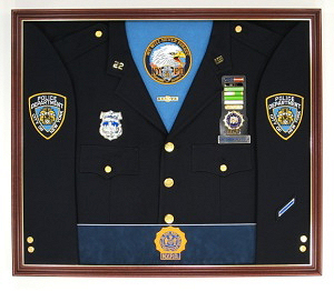 N.Y.P.D. Detective Display Case Shadow Box Uniform